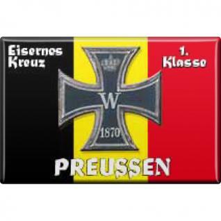 Küchenmagnet - Eisernes Kreuz Preußen - Gr. ca. 8 x 5, 5 cm - 38126 - Magnet Kühlschrankmagnet