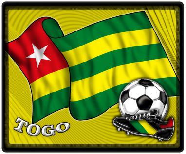 Mousepad Mauspad mit Motiv - Togo Fahne Fußball Fußballschuhe - 83186 - Gr. ca. 24 x 20 cm