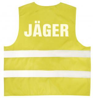 Warnweste mit Aufdruck - JÄGER - 11558 versch. Farben Gr. gelb / 2XL