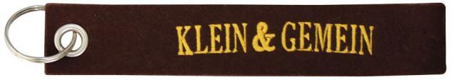Filz-Schlüsselanhänger mit Stick KLEIN UND GEMEIN Gr. ca. 17x3cm 14100 Keyholder schwarz