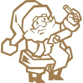 Wandtattoo Dekorfolie - Weihnachtsmann - AP1038 - gold / 120cm