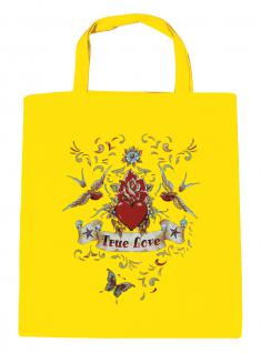 (U09377) Umweltfreundliche Baumwoll - Tasche , ca. 28 x 43 cm mit Aufdruck in 7 Farben gelb