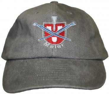 Cap mit zunftiger Einstickung Handwerk Zunft - Maler - 68619 grau - Baseballcap Baumwollcap Cappy Kappe