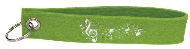 Filz-Schlüsselanhänger mit Stick - Noten - Gr. ca. 17x3cm - 14228