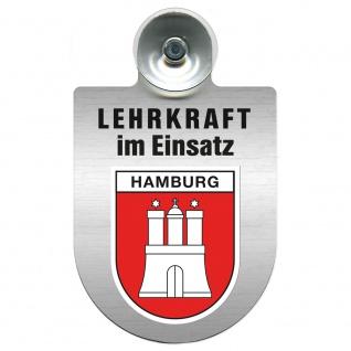 Einsatzschild Windschutzscheibe incl. Saugnapf - Lehrkraft im Einsatz - 309364 Region Hamburg