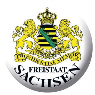 Anstecknadel Button Ansteckbutton mit Motivdruck - FREISTAAT SACHSEN - 03862
