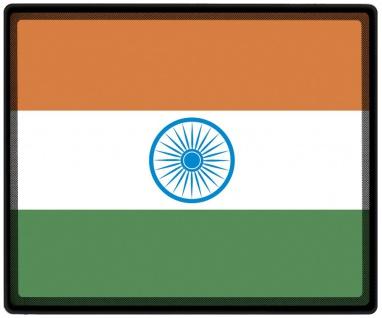 Mousepad Mauspad mit Motiv - Indien Fahne - 82064 - Gr. ca. 24 x 20 cm