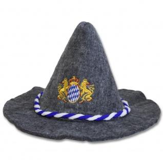 Gaudi-Hut Seppelhut mit Einstickung Bayern Löwen Emblem Wappen 51493
