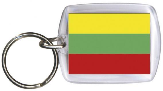 Schlüsselanhänger Anhänger - LITAUEN - Gr. ca. 4x5cm - 81095 - Keyholder WM Länder