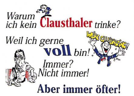 PVC Aufkleber Fun Auto-Applikation Spass-Motive und Sprüche - Clausthaler - 303454 - Gr. ca. 12 x 8 cm