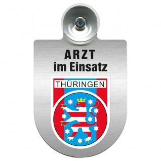 Einsatzschild Windschutzscheibe incl. Saugnapf - Arzt im Einsatz - 309352 Region Thüringen