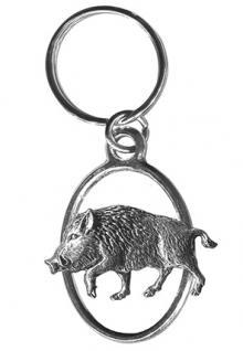 Metall- Schlüsselanhänger - Wildschwein - Gr. ca. 7x3cm - 13252