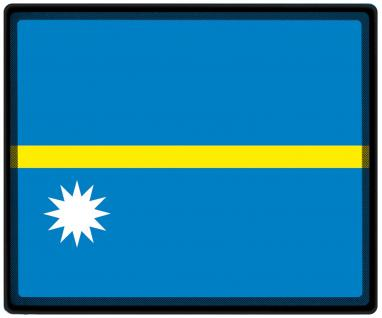 Mousepad Mauspad mit Motiv - Nauru Fahne Fußball Fußballschuhe - 82115 - Gr. ca. 24 x 20 cm