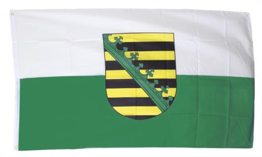 Dekoflagge - SACHSEN - Gr. ca. 150 x 90cm - 07918 - Jumboflagge Hissfahne