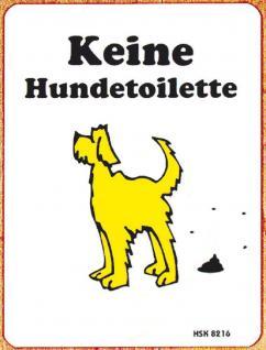Hinweisschild - Keine Hundetoilette - 308216 - 14, 5cm x 19cm