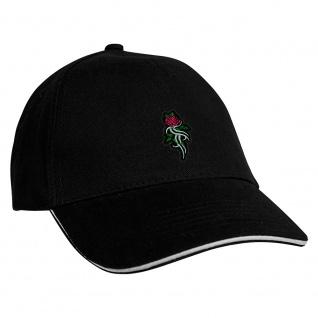 Baseballcap mit Einstickung Tribal Rose - 68341 schwarz