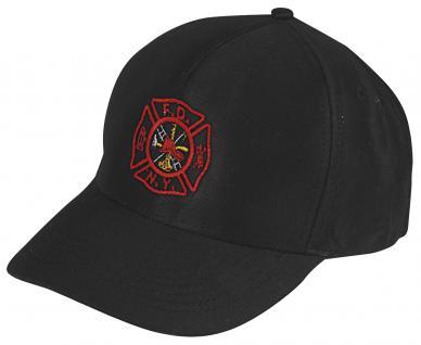 Baseballcap-CAP mit roter Bestickung - Fire Department New York ... F D N Y - 68286 schwarz - Baumwollcap Baseballcap Cappy Kappe