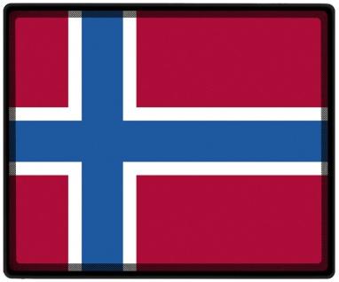 Mousepad Mauspad mit Motiv - Norwegen Fahne - 82123 - Gr. ca. 24 x 20 cm
