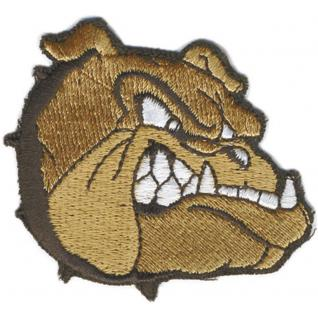 AUFNÄHER - Hund Bulldogge - (03088) Gr. ca. 6, 5cm x 5, 5cm - Stick Emblem Abzeichen Patches Applikation