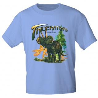 Kinder T-Shirt mit Print - Triceratops Dinosaurier - 12758 versch. Farben Gr. 98-164