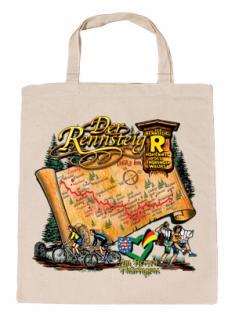 """(08801) Umweltfreundliche Baumwoll - Tasche , ca. 28 x 43 cm mit Druck """" Der Rennsteig"""" in 5 Farben natur"""