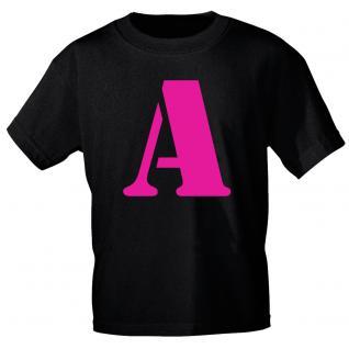 """Marken T-Shirt mit brillantem Aufdruck """" A"""" 85121-A S"""