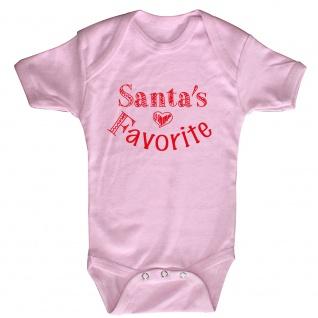 Babystrampler Print Weihnachten Santa´s Favorite 12745 Gr. rosa / 18-24 Monate