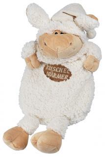Wärmflasche Schaf Wollschäfchen mit Einstickung Kuschelwärmer 39309 weiß