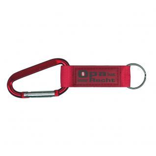 Karabiner-Schlüsselanhänger mit Druck Opa hat immer Recht Gr. ca. 16 x 2cm in 2 Farben 13441 rot