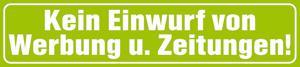 Pvc-aufkleber - Keine Werbung - 302077/1 - Gr. Ca. 9 X 2 Cm - Vorschau