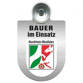 Einsatzschild Windschutzscheibe incl. Saugnapf - Bauer im Einsatz - 309736-8 Region Nordrhein-Westfalen
