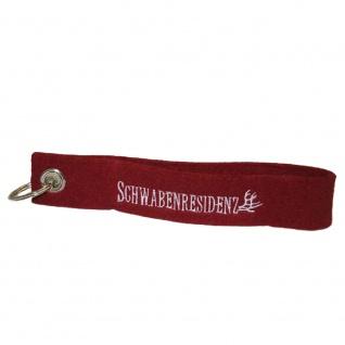 Filz-Schlüsselanhänger mit Stick SCHWABENRESIDENZ Gr. ca. 17x3cm 14048 rot