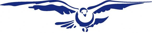 Aufkleber Applikation - Taube - AP1411 - blau / 30cm