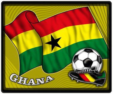 Mousepad Mauspad mit Motiv - Ghana Fahne Fußball Fußballschuhe - 83054 - Gr. ca. 24 x 20 cm