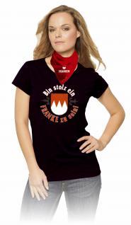 T-Shirt mit Print - Bin stolz ein Franke zu sein - 09389 schwarz Gr. M