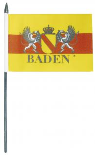 Stock-Fahne - Wappen Baden - Gr. ca. 40 x 30 cm - 07933 - Schwenkfahne mit Holzstock - Fan-Flagge - Vorschau