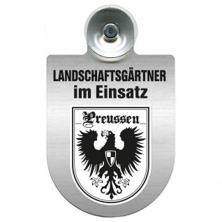 Einsatzschild Windschutzscheibe incl. Saugnapf - Landschaftsgärtner im Einsatz - 309375 - Region Preussen