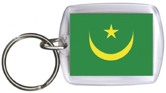 Schlüsselanhänger Anhänger - MAURETANIEN - Gr. ca. 4x5cm - 81104 - Keyholder WM Länder