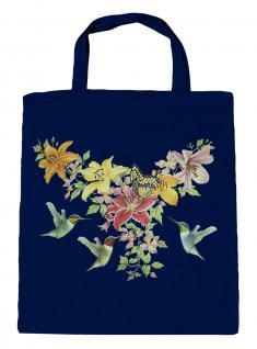 (U06996)Umweltfreundliche Baumwoll - Tasche , ca. 28 x 43 cm mit Aufdruck in 7 Farben Navy