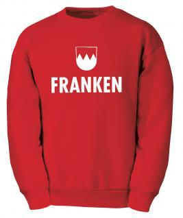 """Sweater- Sweatshirt für Damen und Herren mit Motivdruck """" Franken"""" - 09035 rot - Gr. S"""