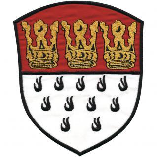 Rückenaufnäher - Wappen - KÖLN - 08548 - Gr. ca. 13 x 16 cm - Patches Stick Applikation