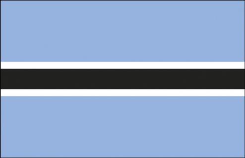 Autofahne - Botswana - Gr. ca. 40x30cm - 78026 - Auto-Länderfahne, Flagge mit Klemmstab, Fahne