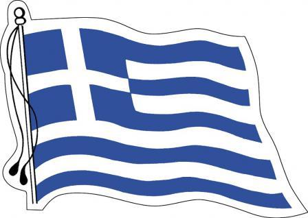 Aufkleber Autoaufkleber Länderfahne wehend - Greece - Griechenland - 301312 - Gr. ca. 95mm x 70mm