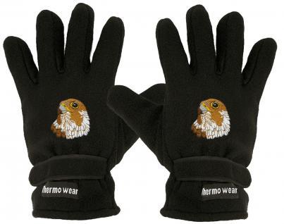 """(40385-56539) Fleece Handschuhe mit Einstickung """" ADLER"""""""