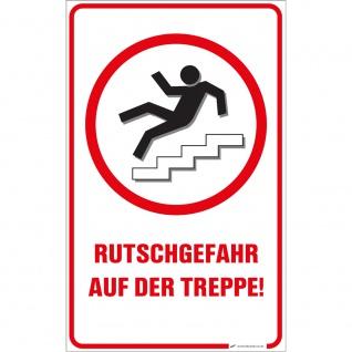 Schild - Rutschgefahr auf der Treppe - 309885/1 Gr. 25cm x 40cm