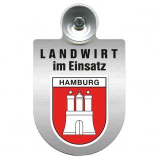 Einsatzschild Windschutzscheibe incl. Saugnapf - Landwirt im Einsatz - 309369-15 - Region Hamburg