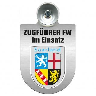 Einsatzschild Windschutzscheibe incl. Saugnapf - Zugführer Feuerwehr im Einsatz - 309749 - Region Saarland
