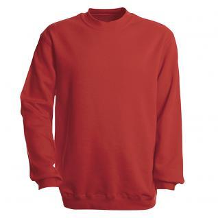 Sweat-Shirt unisex ohne Print in 14 farben Gr. S-XXL 41375 rot / L