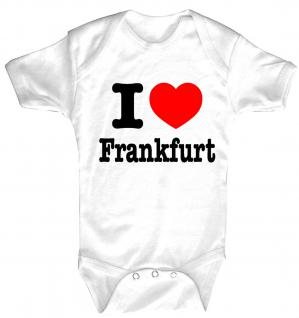 Babystrampler mit Print ? I love Frankfurt ? 08325 weiß - 0-24 Monate