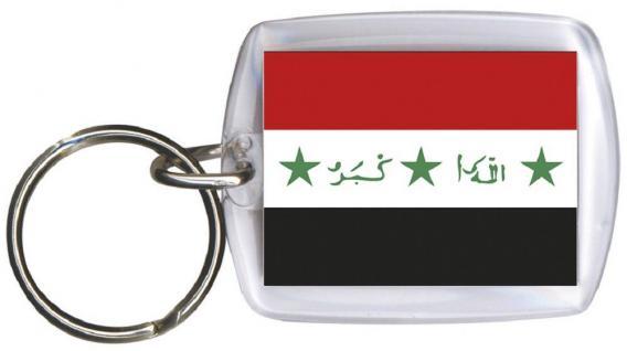 Schlüsselanhänger Keyholder - IRAK - Gr. ca. 4x5cm - 81066 - WM Länder